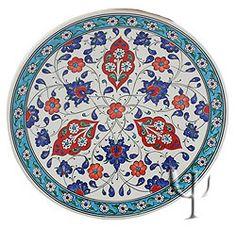 Iznik Design Ceramic Plate - Baba Nakkash