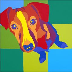 Jack Russell Terrier Art  Jack by Leftpaw on Etsy, $20.00