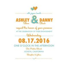 Print: Retro Wedding Invitation