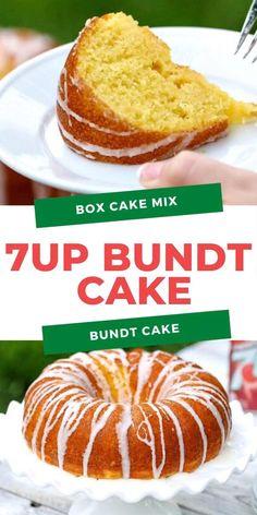 Pound Cake Recipe With Cake Mix, 7up Cake Recipe, 7 Up Cake, Box Cake Recipes, Delicious Cake Recipes, 7 Up Box Cake Recipe, Yummy Cakes, Dessert Recipes, Cake Mix And Soda