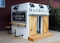 One couple loved their visit to Waco, Texas so much that when it came to building a custom playhouse for their niece, they built a replica of Magnolia Market. Build A Playhouse, Playhouse Outdoor, Modern Playhouse, Outdoor Play, Play Spaces, Kid Spaces, Play Areas, Kids Outdoor Spaces, Cubby Houses