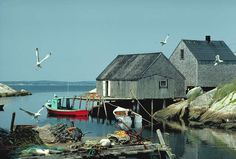 Picture Peggys Cove Nova Scotia Canada Free interactive atlas with photos, facts, links and maps from around the world Nova Scotia, Quebec, Places To Travel, Places To Go, Atlantic Canada, Cape Breton, Prince Edward Island, Fishing Villages, Cities