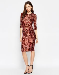 Club L Leopard Midi Dress