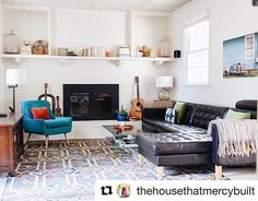 We love the way @thehousethatmercybuilt combined different styles of furniture to make her living room uniquely hers. The IKEA LANDSKRONA sofa looks great as the centerpiece! #IKEAUSA
