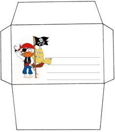 Invitation pirate, crochet, drapeau et bateau à imprimer
