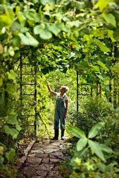 At work in the green. #gardeners Image via Gabriela Herman, repin via The House That Lars Built.