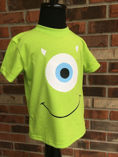 Mike Wazowski inspired shirt monsters inc by TaylorLynnsBoutique Mike  Monsters Inc Costume 3ca2efd17954