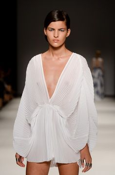 Fashion V Neck Long Sleeve Solid Regular White Chiffon Jumpsuits