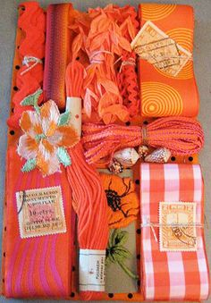 Really pretty orange color ideas and fabirc ideas.  Great ideas for an orange kitchenL http://www.squidoo.com/orange-kitchen-decor #ppgorange