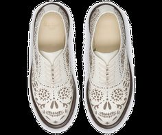 "AILA | Womens Shoes | Womens | The Official Dr Martens Store - UK. I prefer boots and this is one of those ""I wish"" moments. I love the skull design but maybe in a black or a grey color instead. Definitely caught my eye though."