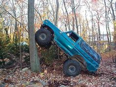 This was taken minutes before that bronco climbed up and over that tree. Dodge Ram Diesel, Chevy Diesel Trucks, Ford Diesel, Chevrolet Trucks, Chevrolet Impala, 1957 Chevrolet, Muddy Trucks, Lifted Trucks, Pickup Trucks