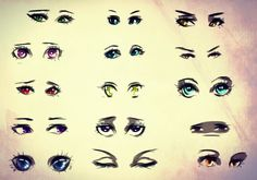 Character Eyes Reference Sheet, by ryky on DeviantART.