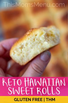 These Keto Hawaiian Sweet Rolls are so easy to make, using common low carb and gluten-free ingredients. Enjoy them warm from the oven with butter, or top them with your favorite sandwich fixings…More 12 Awesome Keto Friendly Meal Recipes Ketogenic Diet Meal Plan, Ketogenic Recipes, Low Carb Recipes, Diet Recipes, Slimfast Recipes, Atkins Diet, Keto Diet Plan, Diet Menu, Bread Recipes