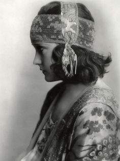 "Gloria Swanson in ""Don't Change Your Husband"" (1919). Morning lingerie gown and cap"