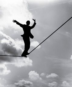 Black and White - Tight Rope Walker
