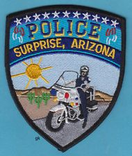 SURPRISE ARIZONA POLICE SHOULDER PATCH (MOTORCYCLE)