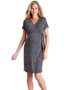 0c5027abf2073 Seraphine Renata Faux Wrap Maternity And Nursing Dress Navy 6 * Visit the  image link more