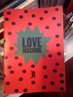 "Original Lisboa em Lisboa, Lisboa -Strawberry model ""Love machine"" notebook, by Undo! #OriginalLisboa"