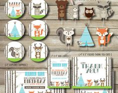 Woodland Animal Printable Party Package by SimplySweetPrintShop