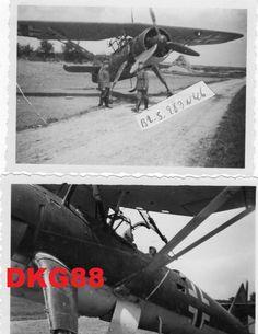 2 photos avion reconnaissance Luftwaffe Henschel HS 126 posé nord France mai 40 | eBay