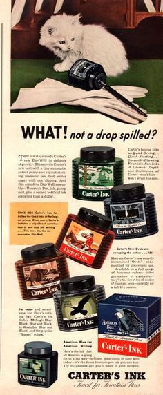 1942 Carter's Ink for Fountain Pens