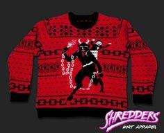 metal ugly christmas jumper krampus sweater holiday sweaters knit sweaters pullover - Metal Christmas Sweaters