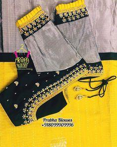 missblouses on Insta Kids Blouse Designs, Simple Blouse Designs, Stylish Blouse Design, Fancy Blouse Designs, Bridal Blouse Designs, Blouse Neck Designs, Blouse Styles, Designer Blouse Patterns, Designer Dresses