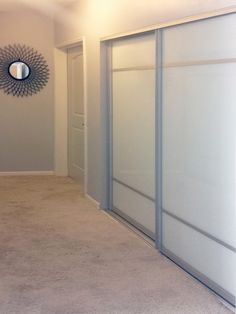 Bottom Track Systems | Creative Mirror & Shower Glass Closet, Decor, Sliding Glass Closet Doors, Bifold Doors, Room Divider, Interior, Closet Organization, Home Decor, Small Bedroom