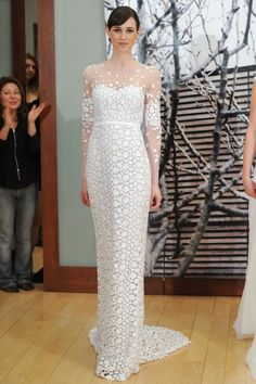 Chic sleeved wedding gown from Mira Zwillinger's Spring 2015 bridal collection.