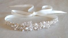 Wedding headband. Bridal head piece. Hair by ShesAccessories, $89.95 LOVE this one, it reminds me of the tiarra I wore <3