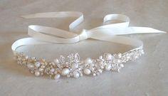 Wedding headband. Bridal head piece. Hair by ShesAccessories, $79.95