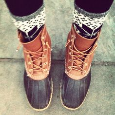 Instagram Fashion Snoop, foreveraprep: Perfect weather for my beanboots!