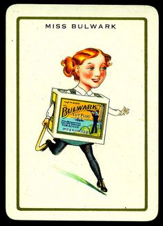 """Cigarette Advertisment Card - Miss Bulwark Wills's Cigarettes """"Happy Families"""" advertisment card (set of 32 issued in 1939)"""