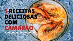 Se você é amante de pratos com camarão, vai adorar conhecer estas 5 receitas deliciosas:  #receitas #recipes #food #foodrecipes #camarão #foodicas #temaki #risoto #macarrão #frutosdomar #foodicas Linguine, Lemon Garlic Shrimp, Cooking Recipes, Healthy Recipes, Healthy Food, Fish And Seafood, Shrimp Recipes, Entrees, Grilling