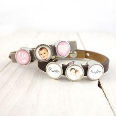 Smalle armband met naam en fotoschuivers roze Bling Bling, Cufflinks, Accessories, Shopping, Key Chains, Bracelets, Wedding Cufflinks, Jewelry Accessories