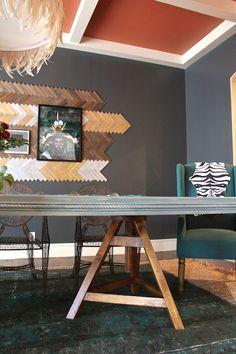 DIY - Traditional Table goes Mod - Kara Paslay Designs