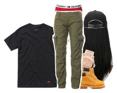 """""""Clean pair of sneaks with a designer belt,please watch your step,cause I'm feeling myself"""" by princess-sinia ❤ liked on Polyvore featuring Michael Kors, Timberland, Hanes, Tommy Hilfiger and Superdry"""
