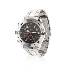 Pairing image quality with ample recording time, this watch camera is the perfect entry-level spy cam. Spy Camera, Tech, Memories, Watches, Star, Tecnologia, Wrist Watches, Souvenirs, Wristwatches