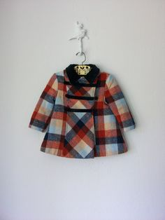 Vintage Toddler Coat ... Classic 1960's Plaid Velvet ... 12-24 months. $36.00, via Etsy. // oh my heart.