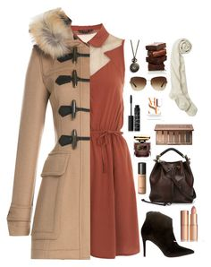 """""""Winter chic"""" by taylor-mortensen ❤ liked on Polyvore featuring Miss Selfridge, Monserat De Lucca, Burberry, Anna F., Chloé, Urban Decay, Sensai, Charlotte Tilbury, By Terry and NARS Cosmetics"""