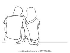 Find couple sketch stock images in HD and millions of other royalty-free stock photos, illustrations and vectors in the Shutterstock collection. Couple Sketch Images, Couple Drawings, Single Line Drawing, Continuous Line Drawing, Croquis Couple, Art Sketches, Art Drawings, Minimal Drawings, Line Art Design
