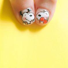 a variety of beautiful personality nails, to provide you with a better reference - Page 14 of 60 - BEAUTIFUL LIFE Dog Nail Art, Dog Nails, Cute Nail Art, Snoopy Nails, Japan Nail Art, Super Cute Nails, Girls Nails, Heart Nails, Disney Nails