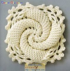Free pattern...gorgeous.  I have no idea what it is, but I would use it as a hot pad.