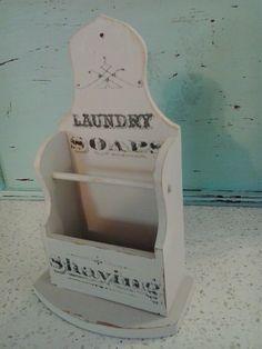 More cute bathroom storage for smaller items.   https://www.facebook.com/mariassalvagedtreasures?ref=hl