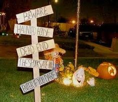 Outdoor Halloween Decorations Diy   Bing Images