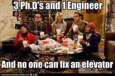 3 PH.D's and 1 Engineer   and no one can fix an elevator