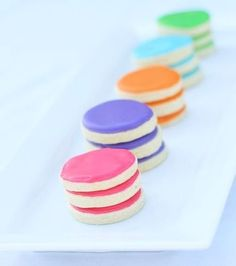 Bright polka dot cookies