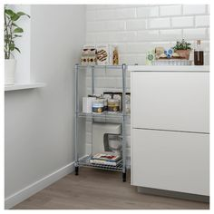 Easy to assemble – no tools required. You can build several vertically if you need more storage space. Wire Shelving, Adjustable Shelving, Ikea Omar, Couples Apartment, Recycling Facility, Kitchen Shelves, Storage Spaces, Indoor, The Unit