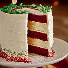 Red Velvet & White Chocolate Layer Cake With White Chocolate Ganache Frosting - from Lakeland