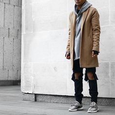 Jacket: Topman Hoodie: Pageslondon Jeans: Pageslondon Shoes: Yeezy boost 350